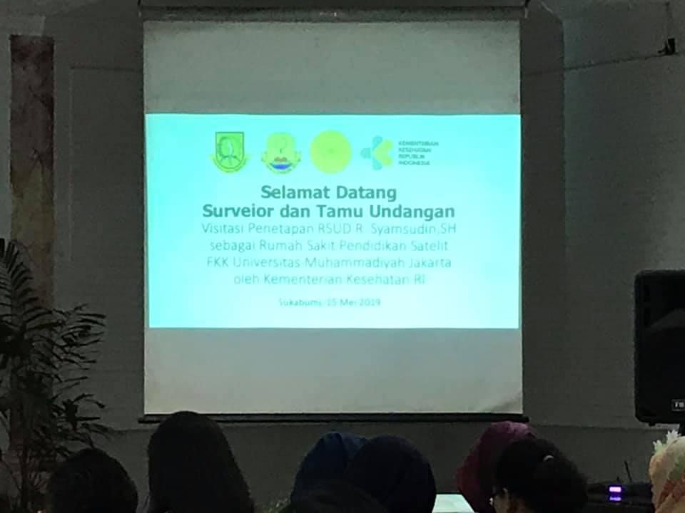 Visitasi RS Pendidikan Satelite FKK UMJ di RSUD R. Syamsudin SH Kota Sukabumi