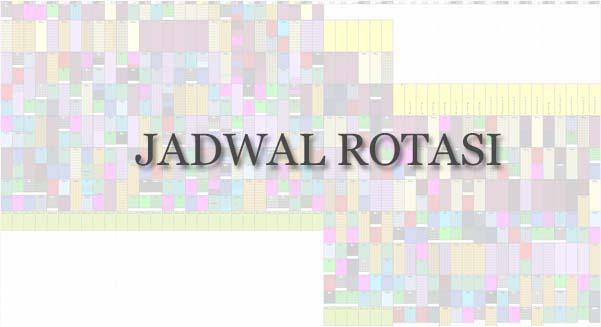 Jadwal Rotasi Periode 10 Agustus 2020
