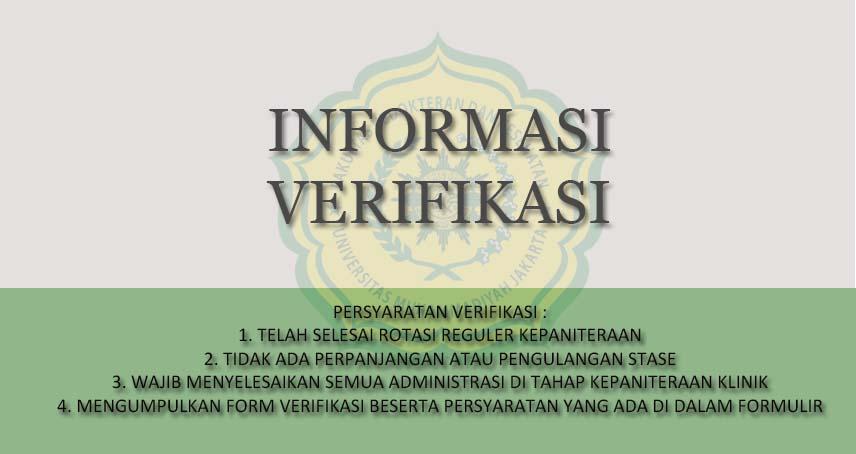 Pembukaan Pendaftaran Verifikasi Agustus 2020